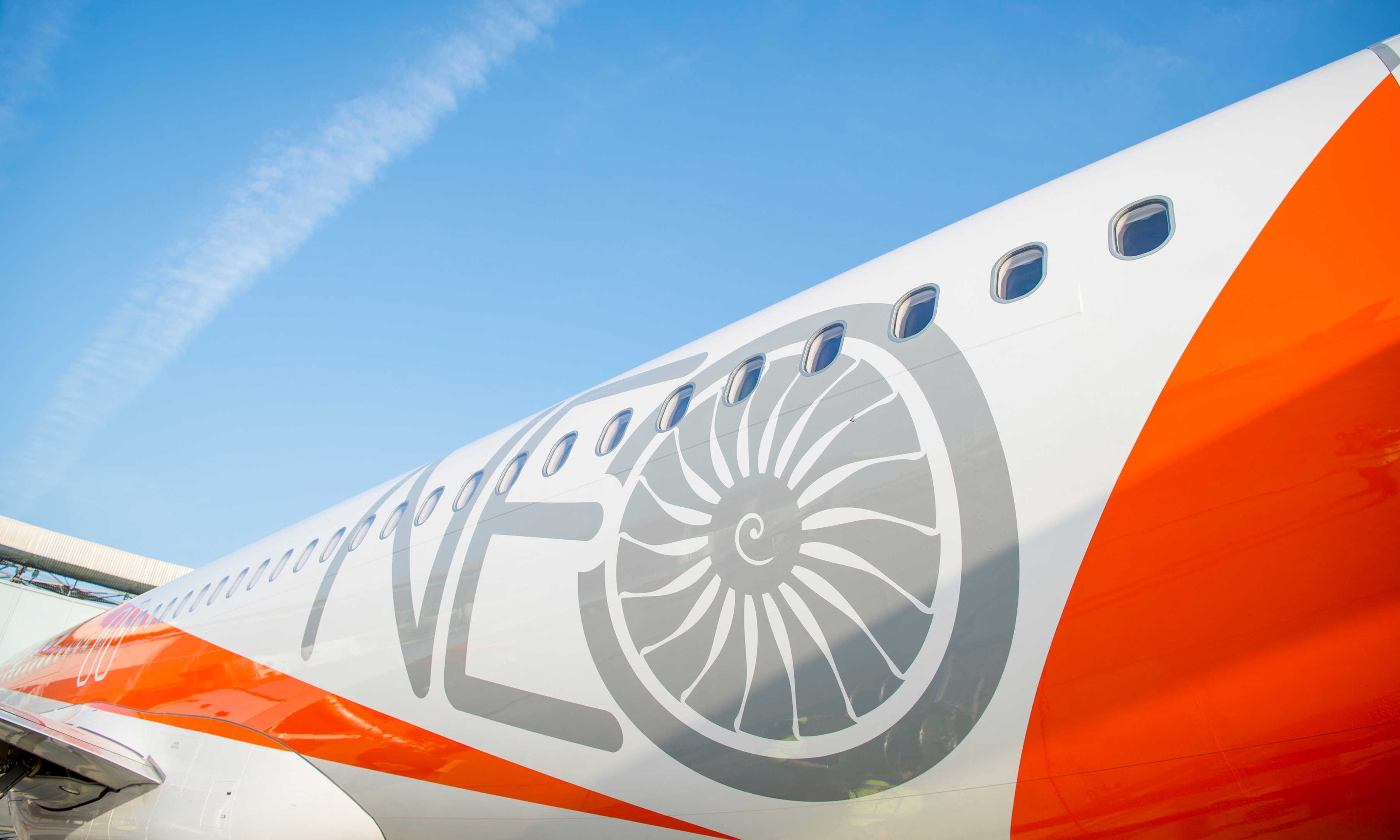 Første A320neo til easyJet. (Foto. Herve Goussé, Master Films)