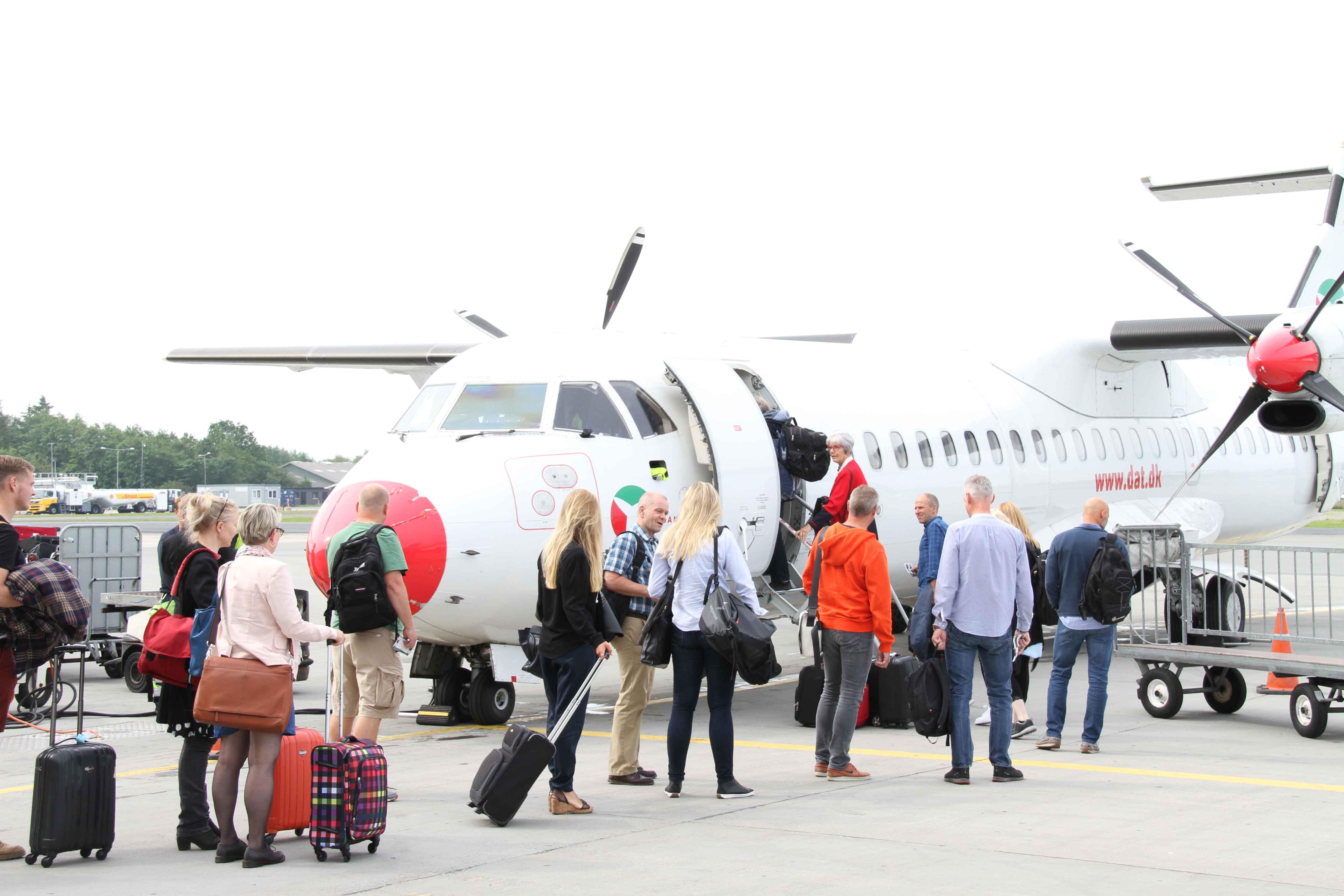 ATR72-fly fra DAT i Aalborg Lufthavn. (Foto: Bornholmerflyet.dk)