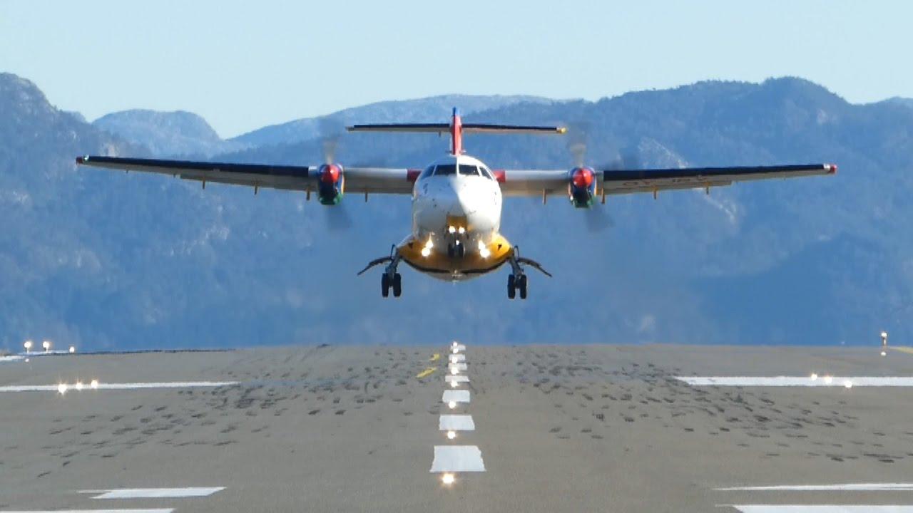 DAT ATR42-300 ved start fra Stord Lufthavn i Norge. (Foto: Stord Lufthavn)