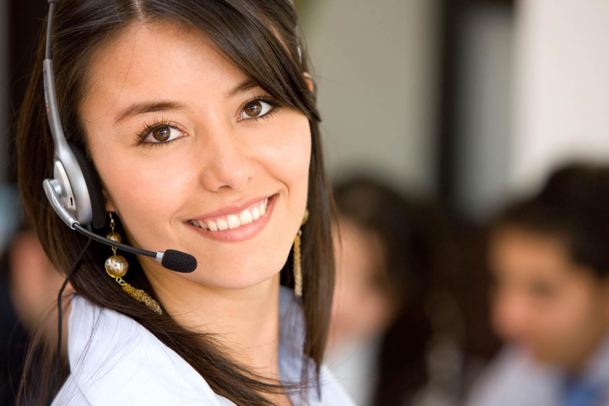 Medarbejder i Emirates callcenter (Foto: Emirates)