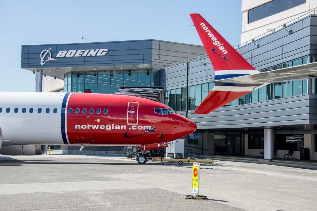 Levering af to Boeing 737 MAX 8 til Norwegian. (Arkivfoto: Norwegian/PR)