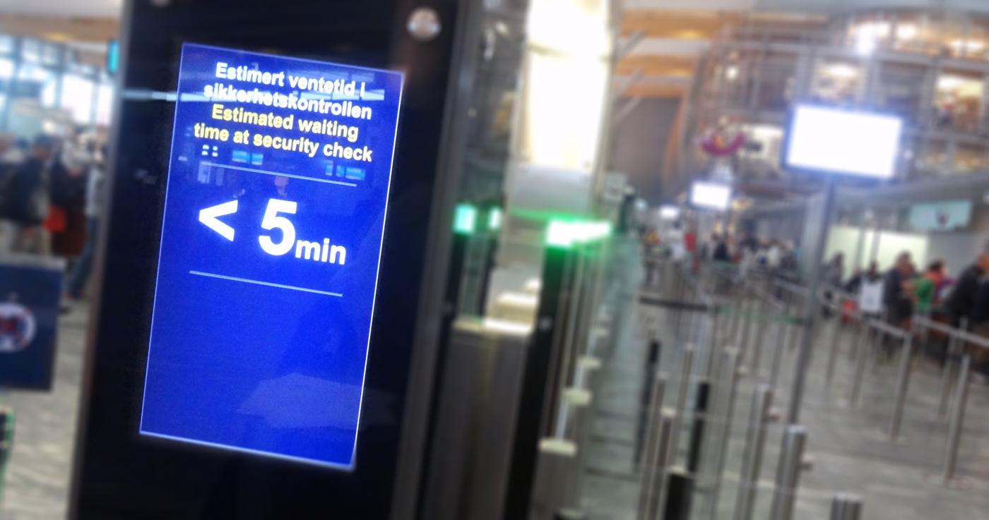 BlipTrack-teknologi i Oslo Lufthavn. (Foto: Blip Systems)