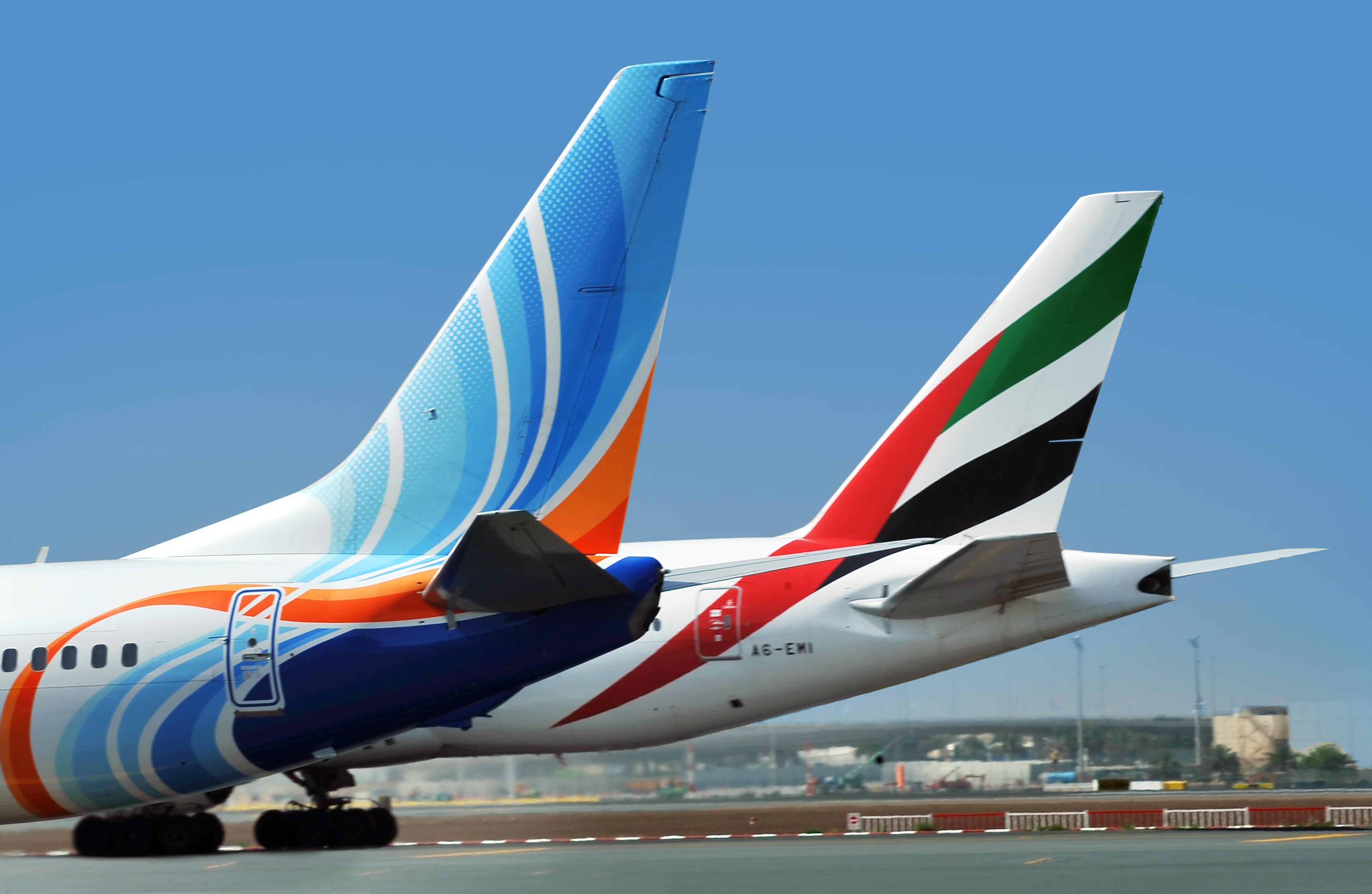Flydubai og Emirates. (Foto: Emirates Airline)