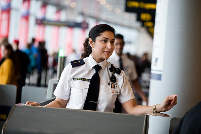 Sikkerhedspersonale i Københavns Lufthavn (Foto: CPH)