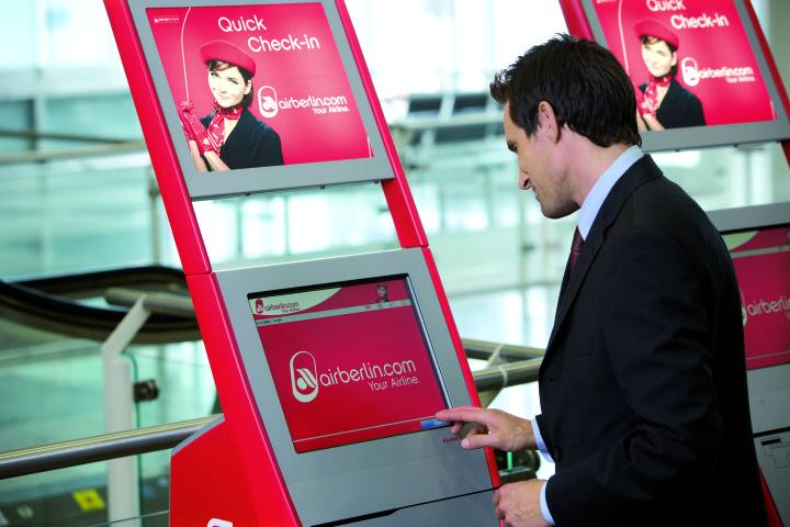 Airberlin check-in automat (Foto: Airberlin)