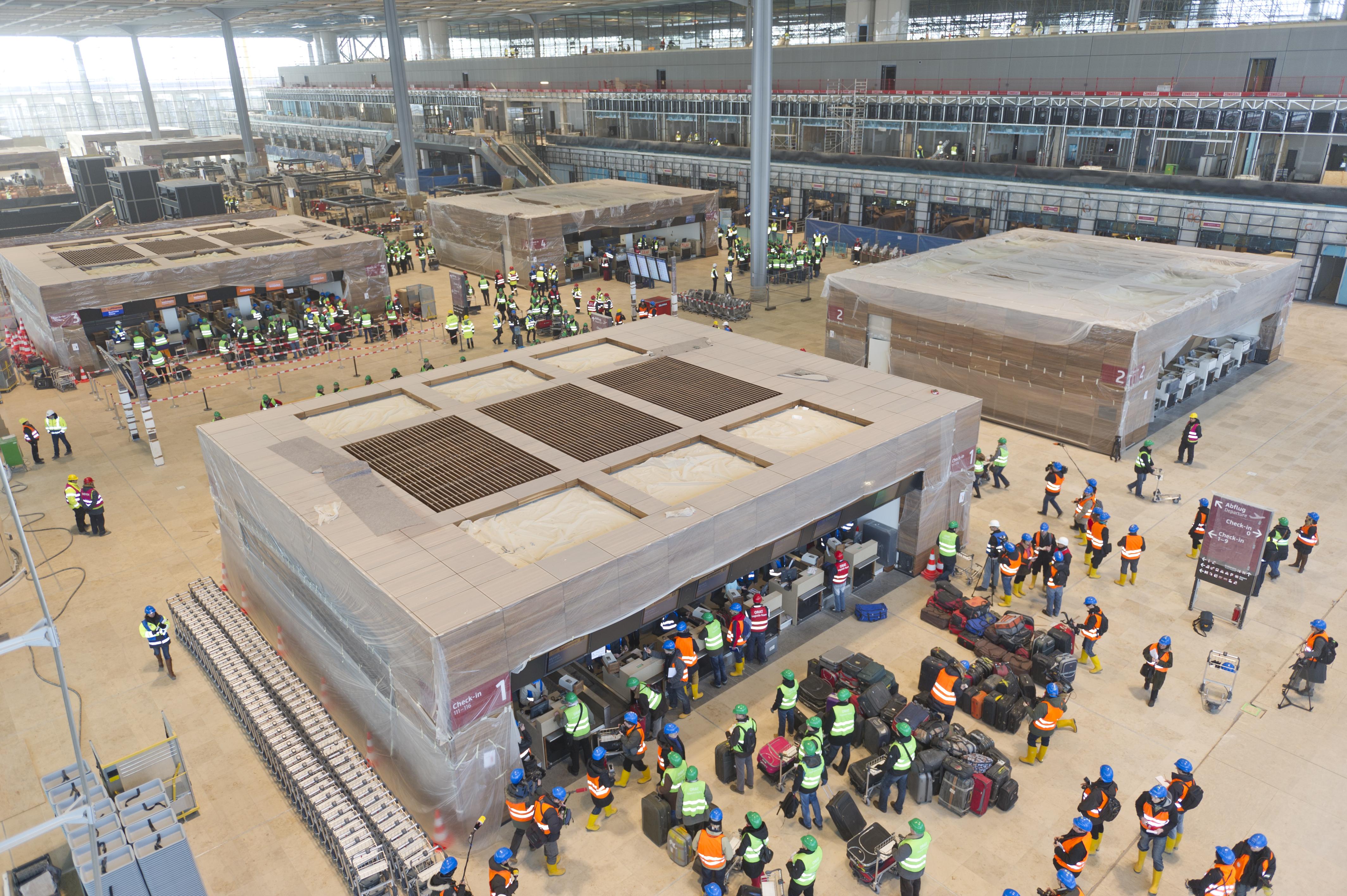 Test af Berlin Brandenburg-lufthavnen i 2012 (Foto: FBB)