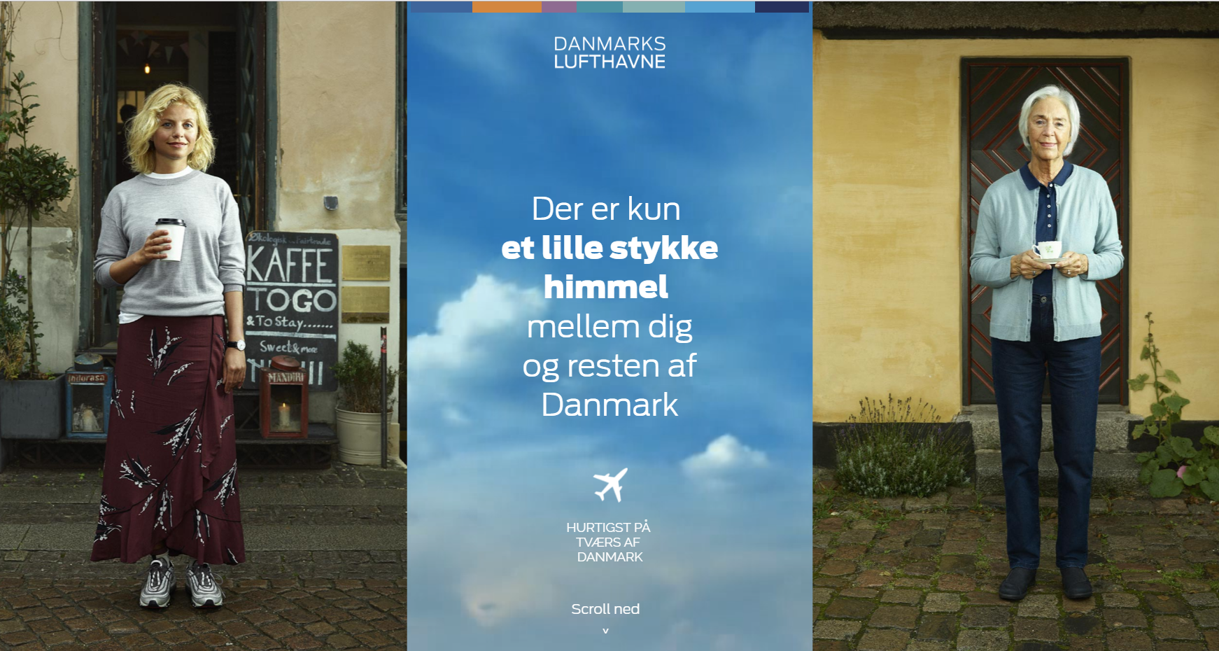 Hjemmesiden danmarkslufthavne.dk skal skabe opmærksomhed om dansk indenrigsflyvning.