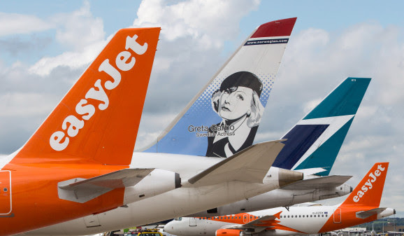 "EasyJets nye ""Worldwide by easyJet""-tiltag."
