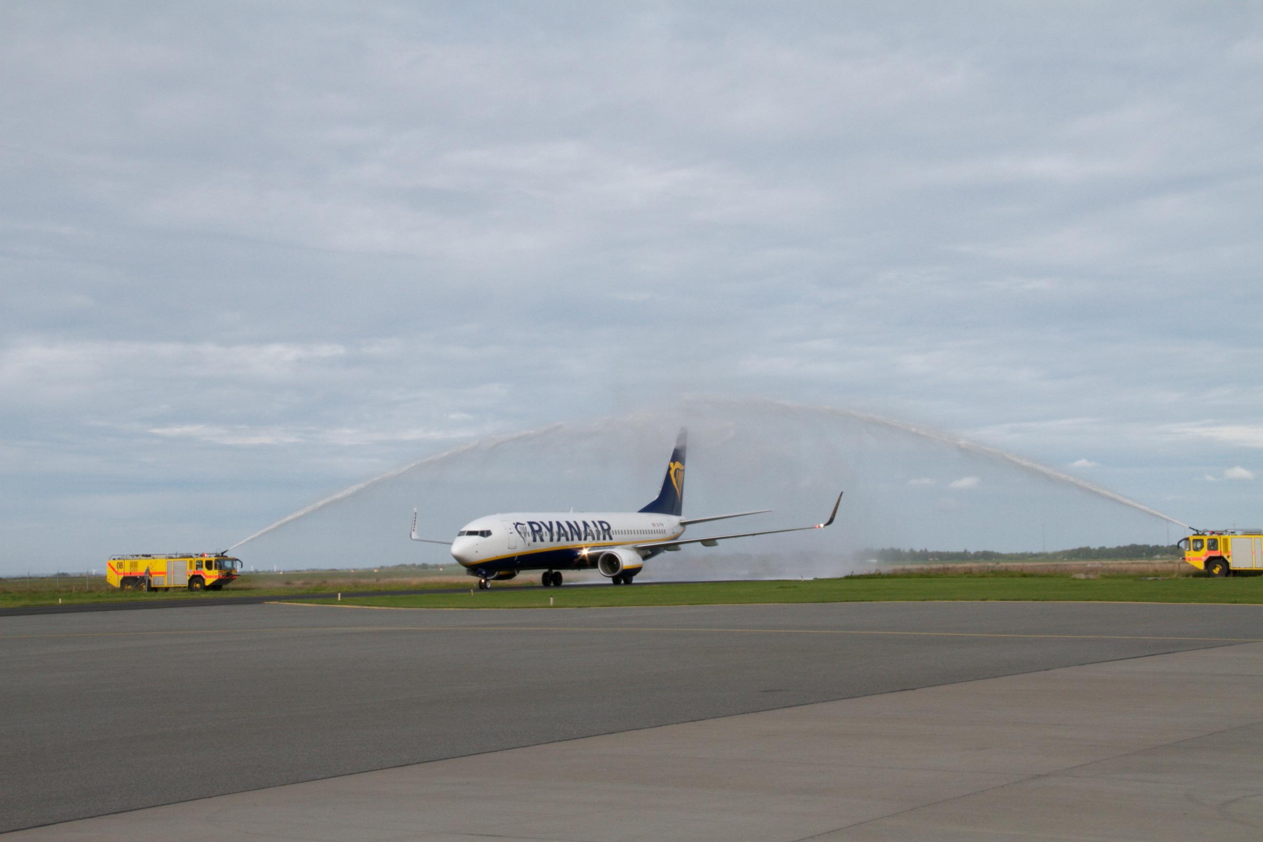 Ryanair-fly i Aalborg Lufthavn (Foto: AAL)