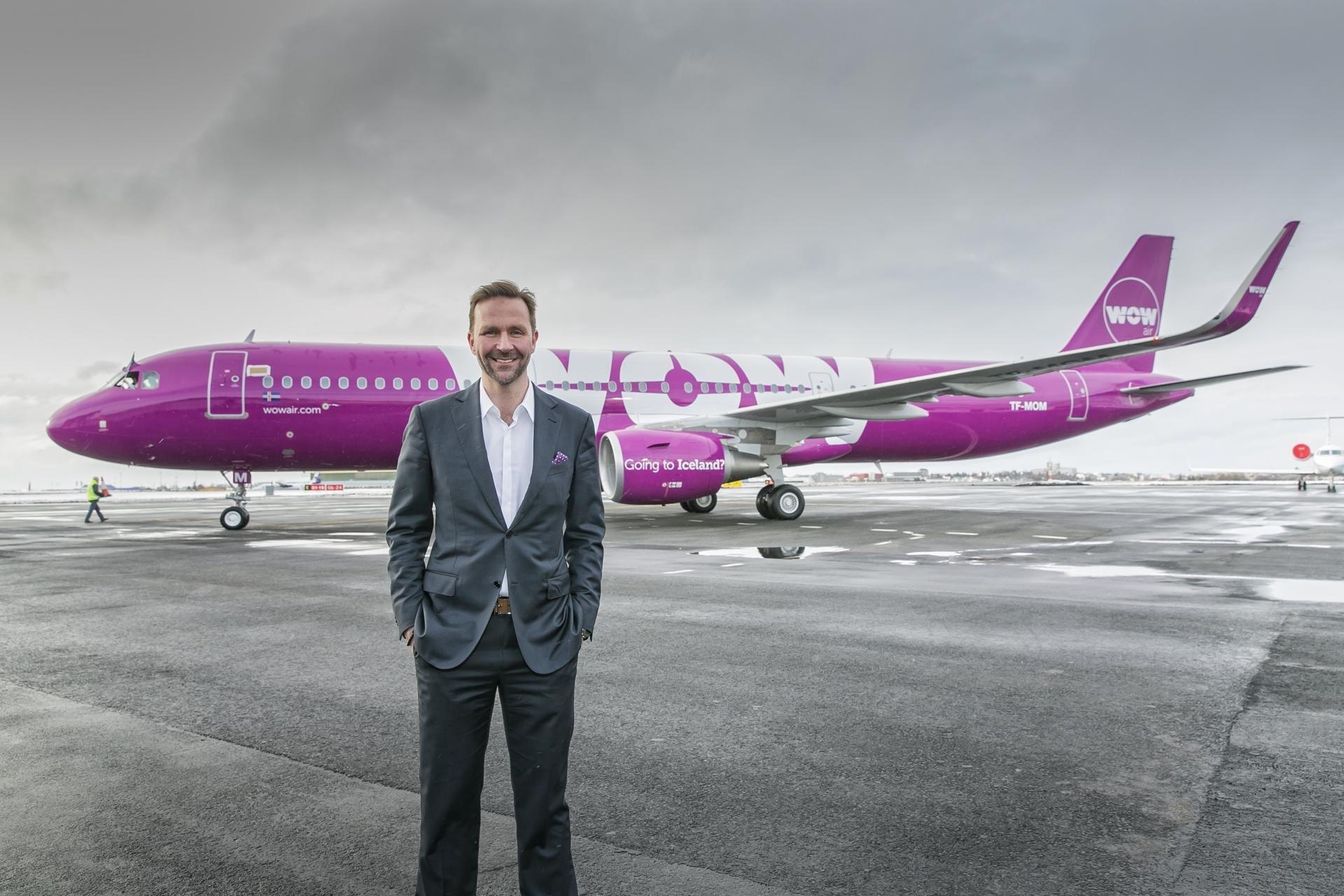 Skúli Mogensen, grundlægger af og administrerende direktør i WOW air (Foto: WOW air)