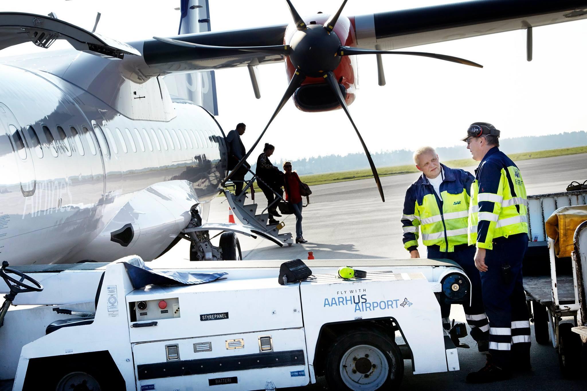 SAS-fly i Aarhus Lufthavn (Foto: Aarhus Airport)