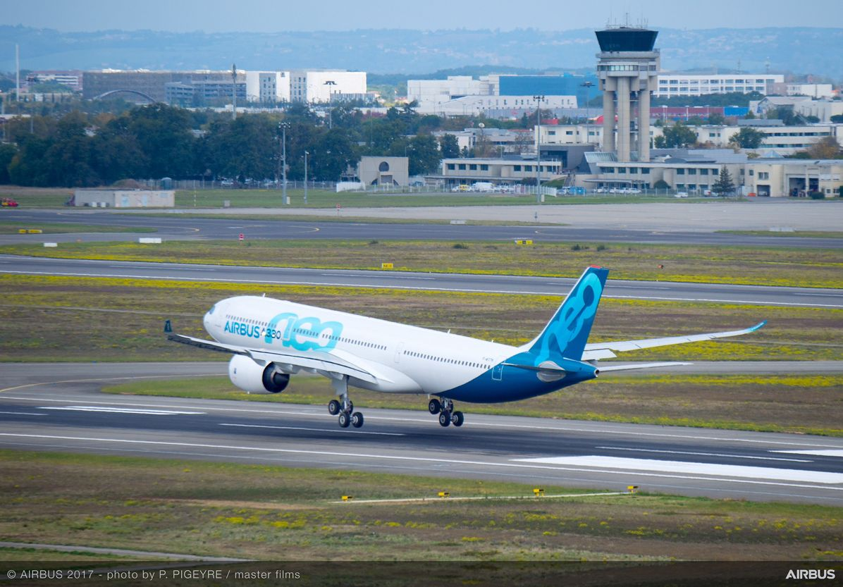 Airbus A330-900neo i Toulouse-Blagnac lufthavnen. (Foto: Airbus | P. pigeyre | master films)