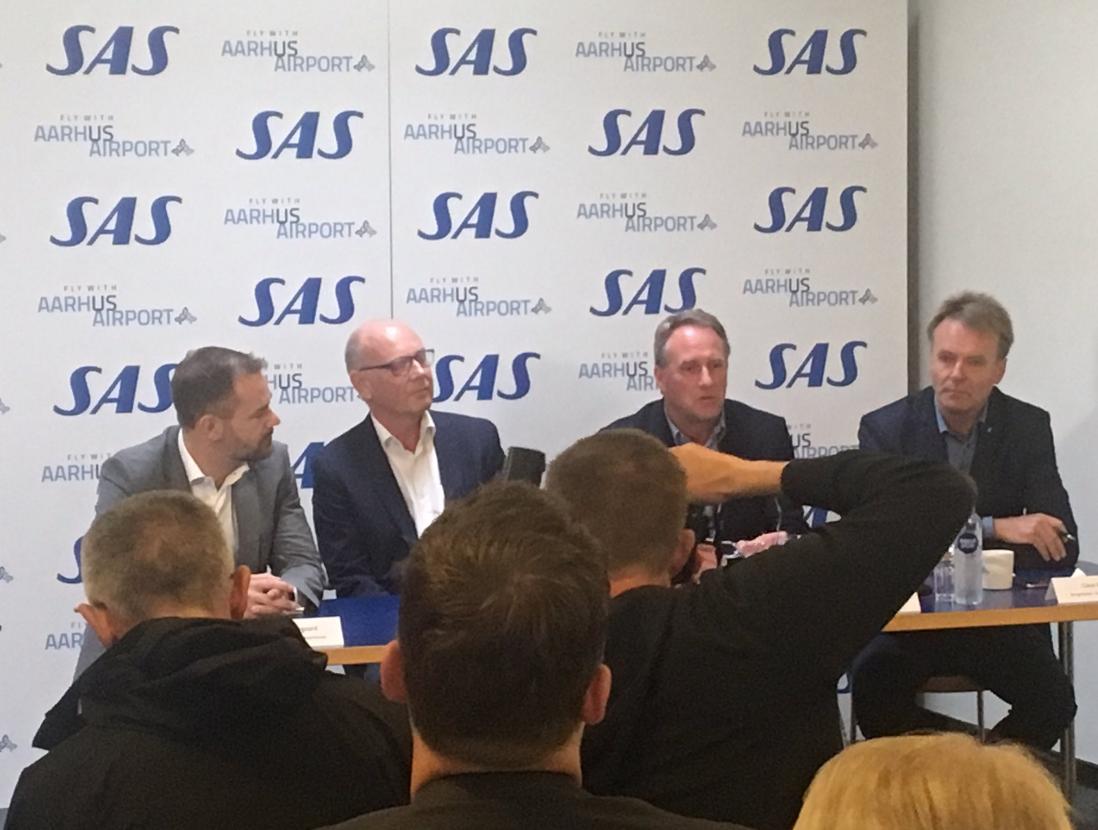 SAS præsenter strategisk samarbejde med Aarhus Lufthavn. (Privatfoto)