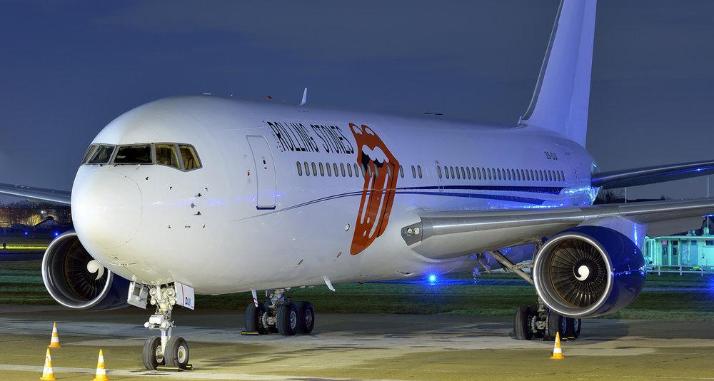 Boeing 767-300ER i Rolling Stones-bemaling. (Foto: Aeronexus Corporation | Pascal)