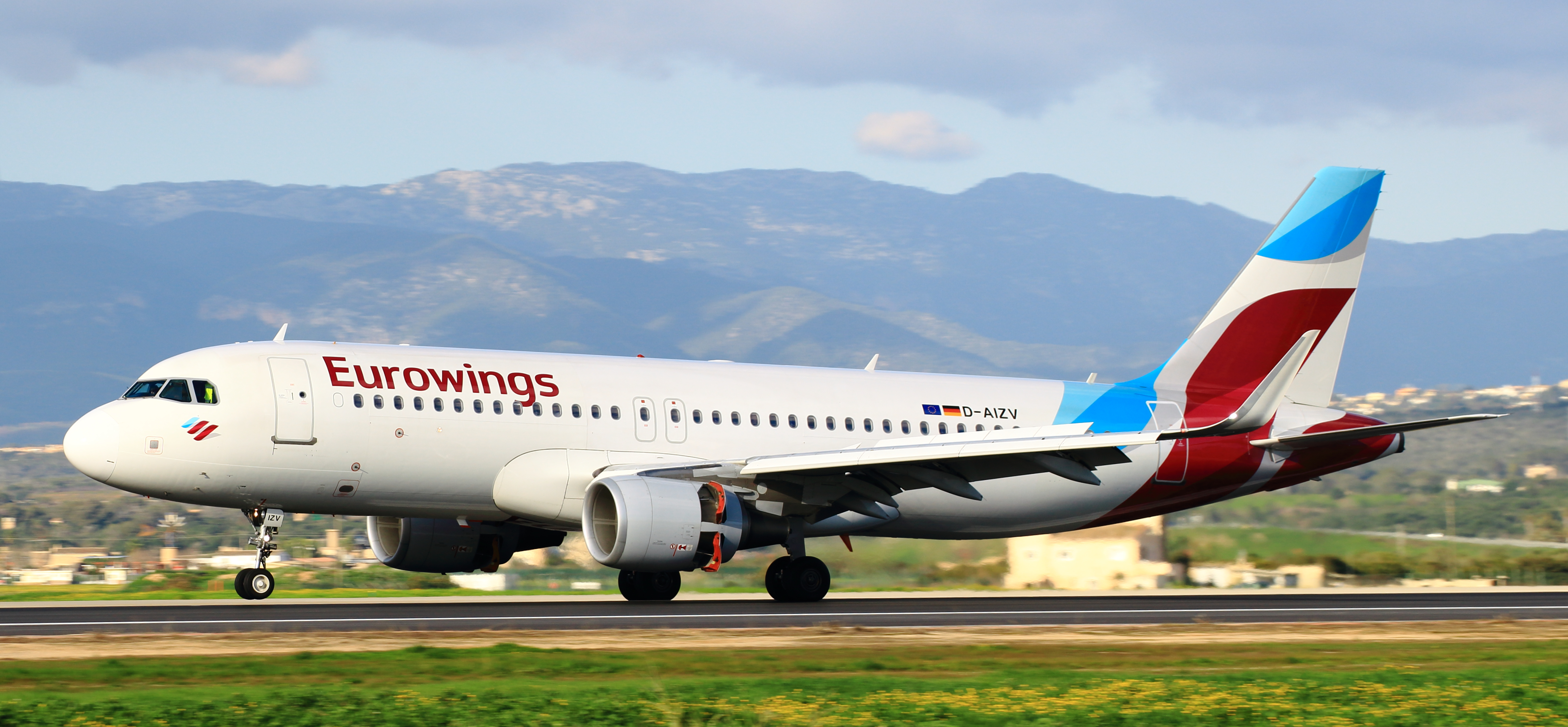 Et Airbus A320-fly fra Eurowings. Foto: Lasse B.