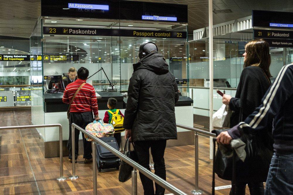 Et af de  mange paskontrolområder i Københavns Lufthavn (Foto: Politi.dk)