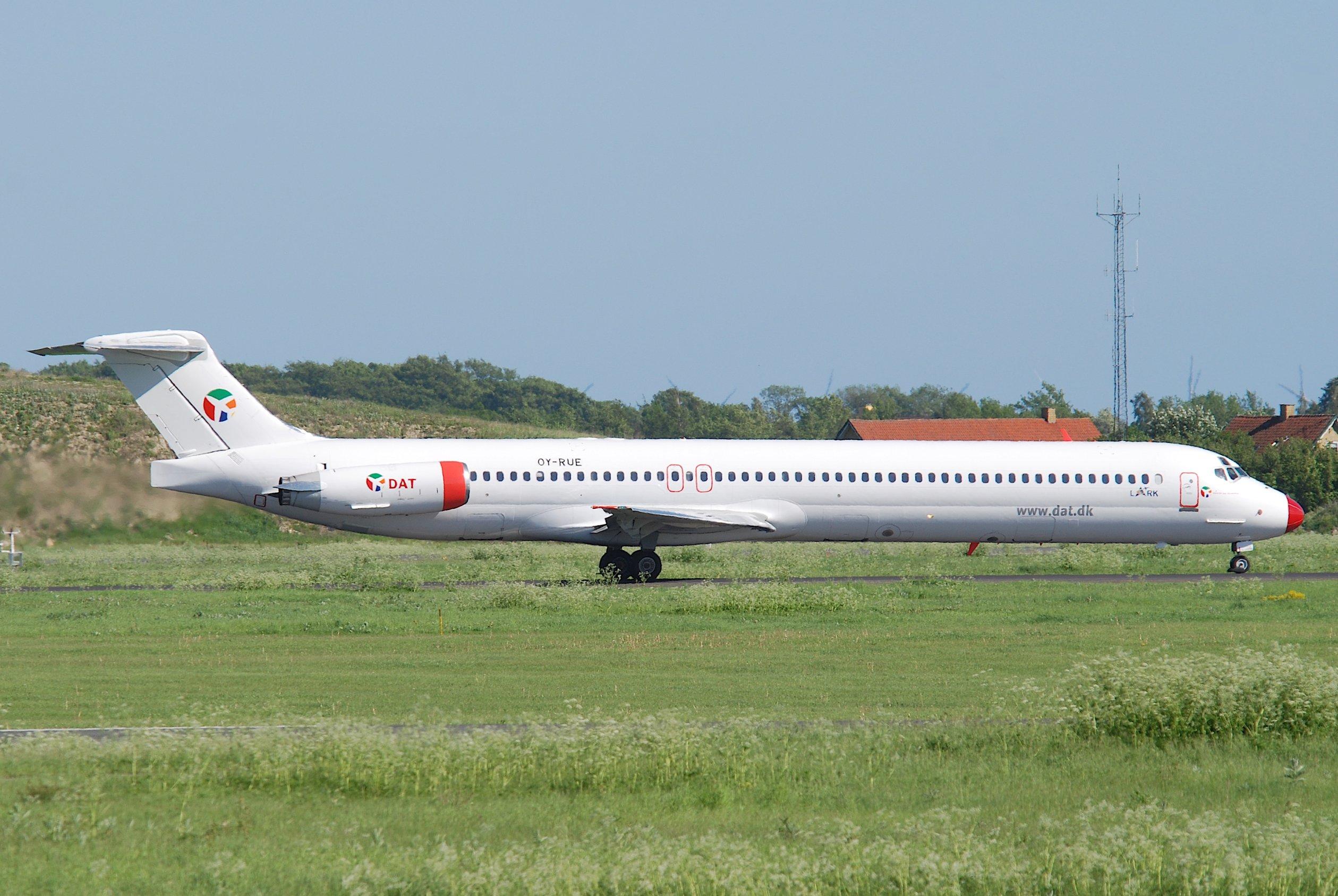 DAT's MD-83 med registreringen OY-RUE. Foto: Aero Icarus
