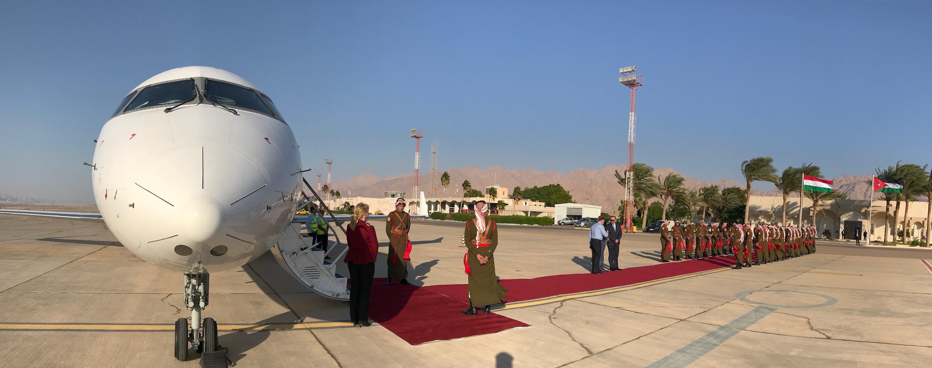 CRJ200-flyet fra BackBone Aviation i Jordan. Foto: Privatfoto