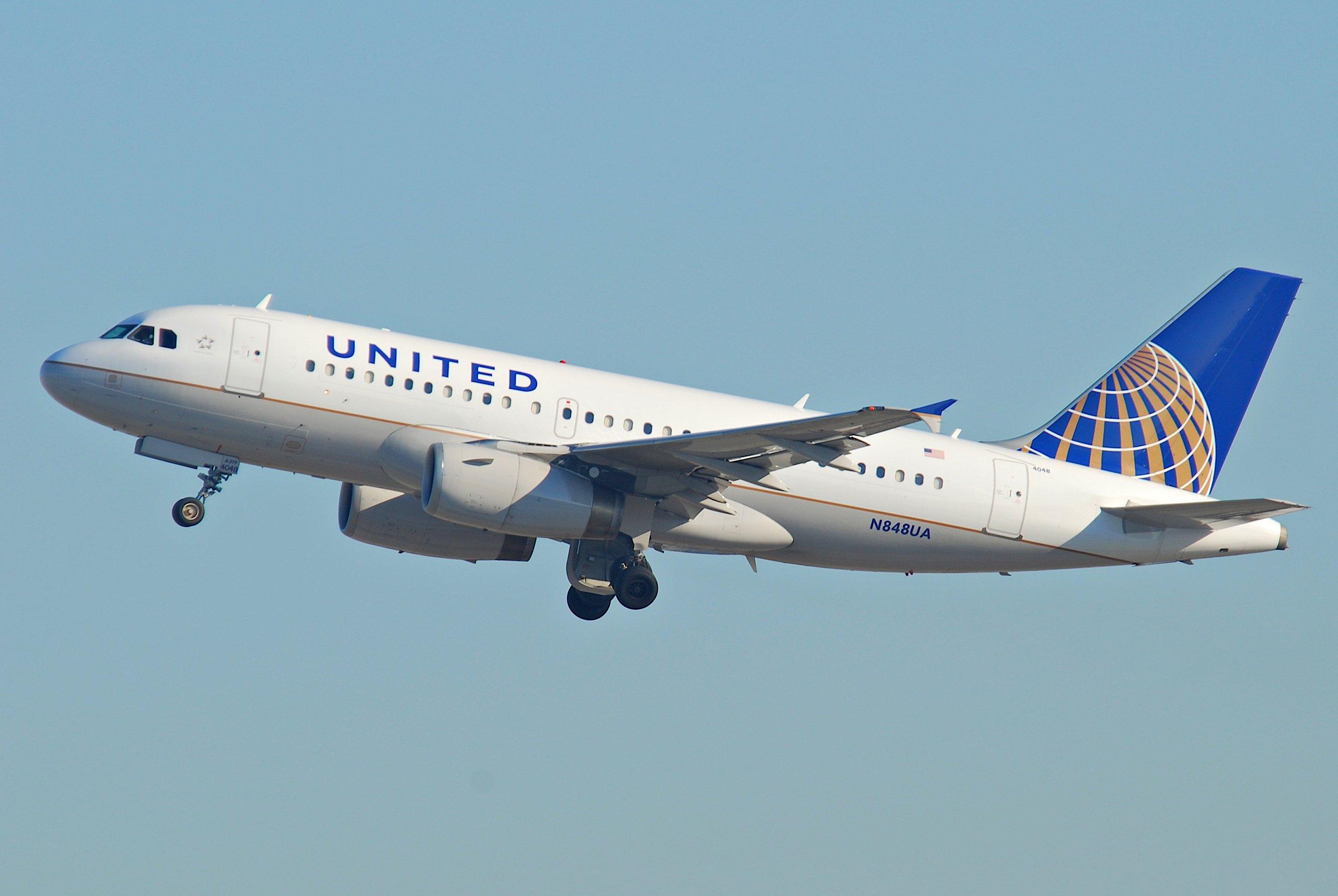 En Airbius A319 fra United Airlines. Foto: Aero Icarus