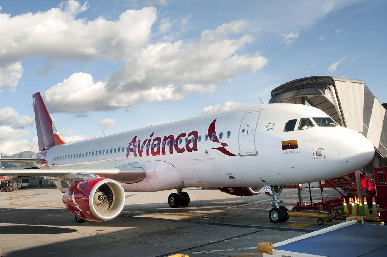 En Airbus A320 fra det colombianske flyselskab Avianca. Foto: Avianca