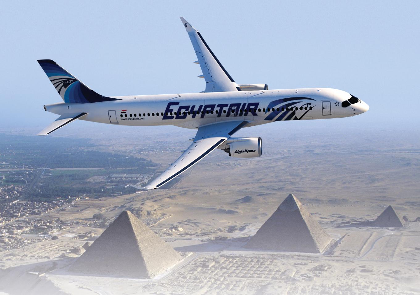 Udseendet af EgyptAirs fremtidigede CS-300-fly. Foto: Bombardier