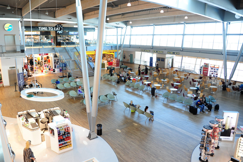 Afgangshallen i transitområdet i Billund Lufthavn (Foto: Billund Lufthavn)
