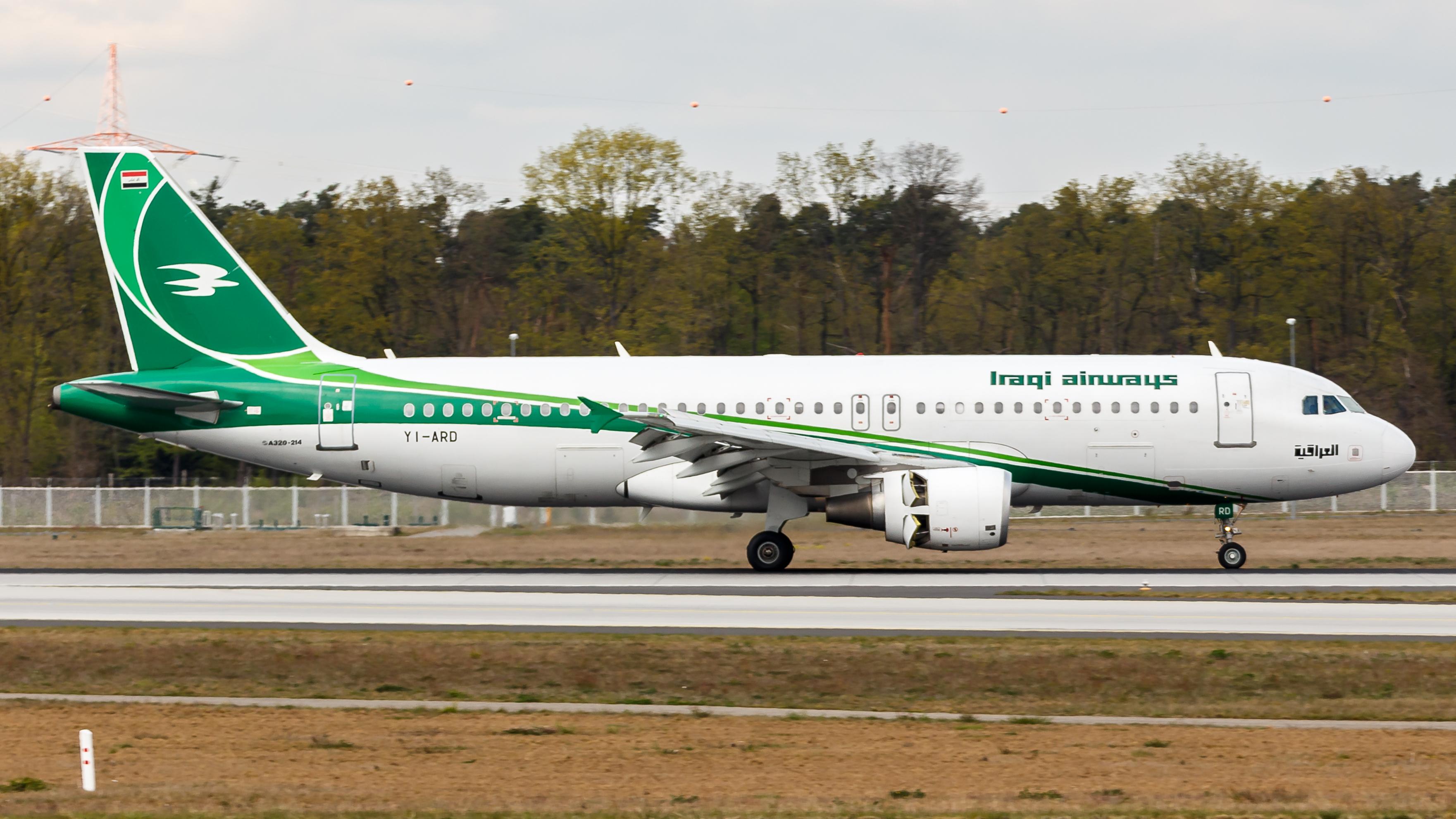 Airbus A320-fly fra Iraqi Airways i Frankfurt. Foto: tjdarmstadt / Wikimedia Commons.