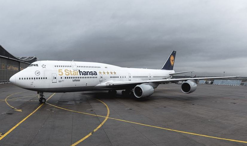 Lufthansa har forsynet et af sine Boeing 747-8 fly med fem stjerner. Foto: Lufthansa.