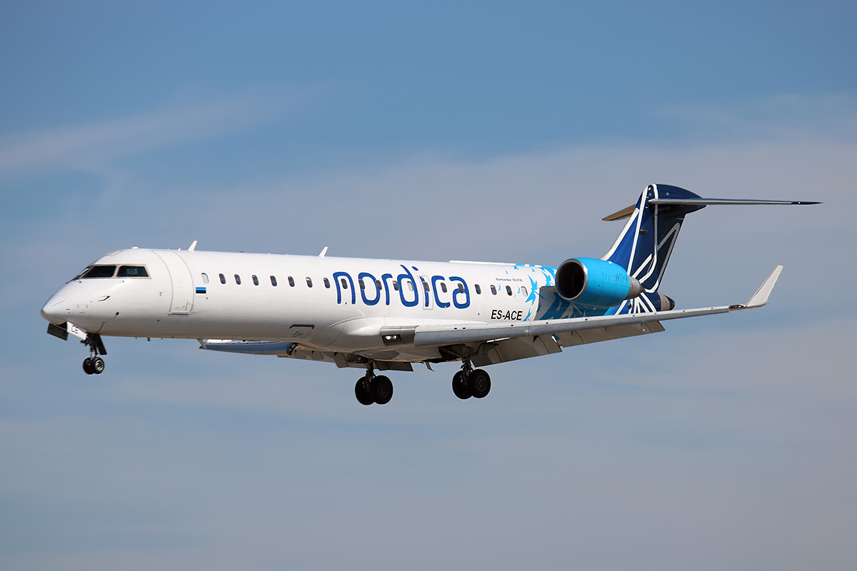 CRJ700-fly fra Nordica. Foto: Pedro Aragão / Wikimedia Commons