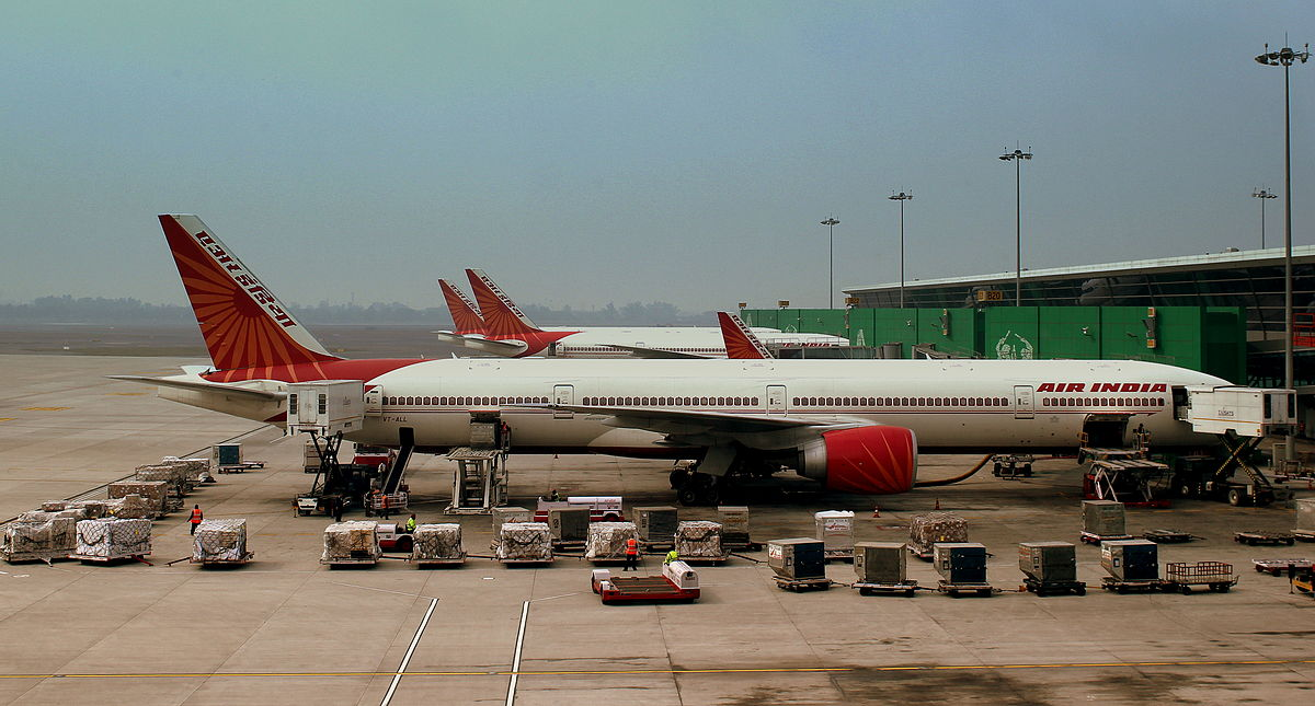 Air India-fly i Indira Ghandi Airport i Delhi. (Foto: calflier001 | Creative Commons 2.0)