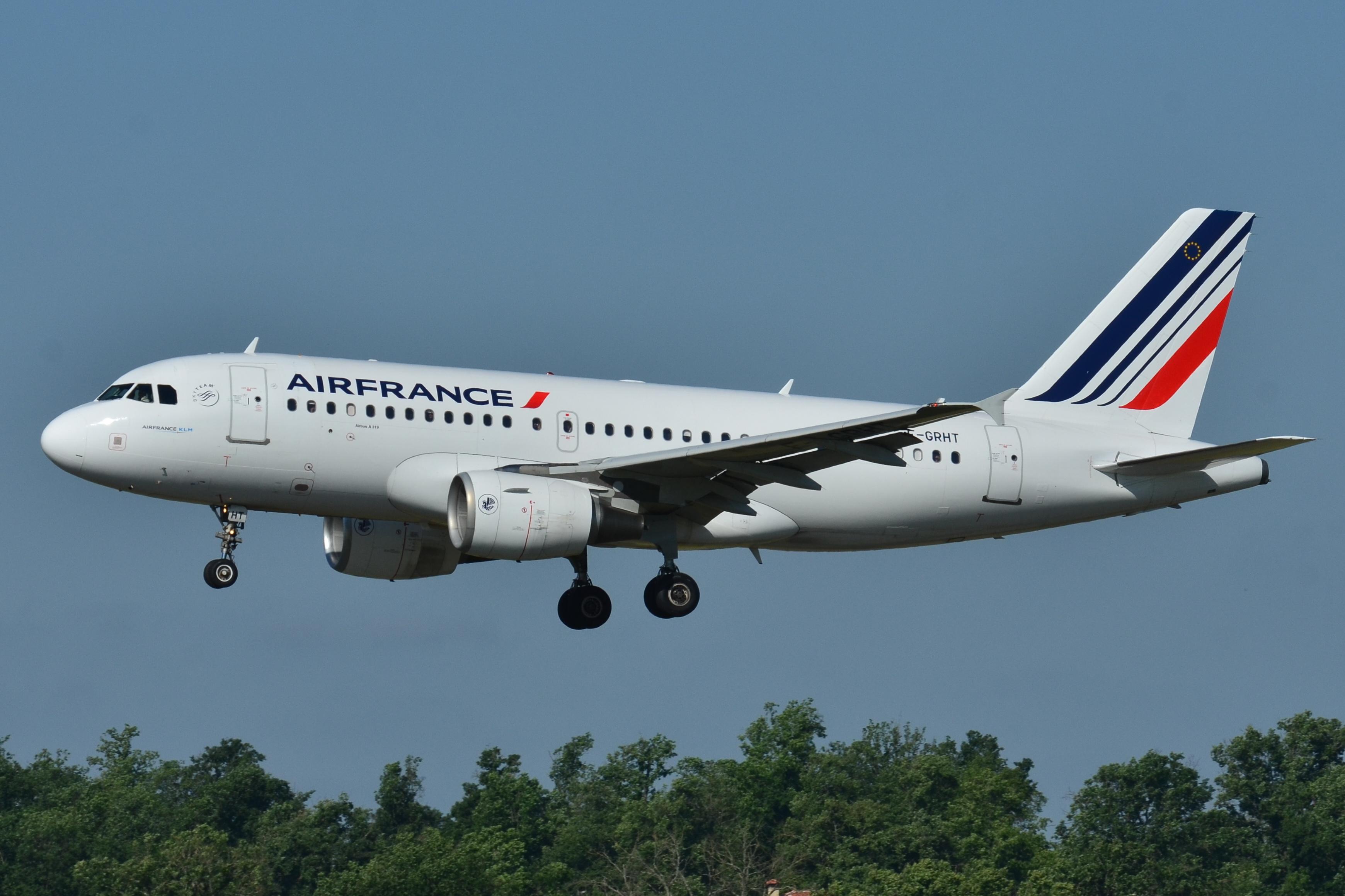 En Airbus A319-100 fra Air France. Foto: Laurent Errera