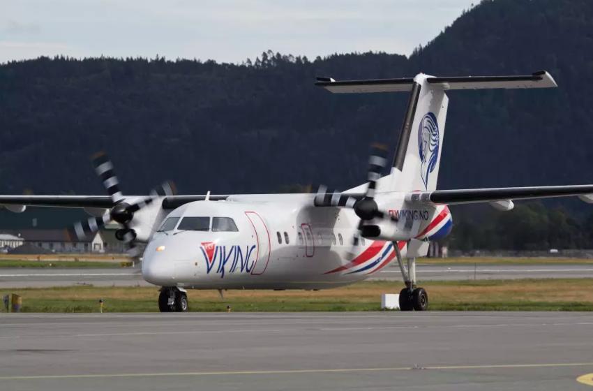 FlyViking Dash 8-100 (Foto: FlyViking AS)