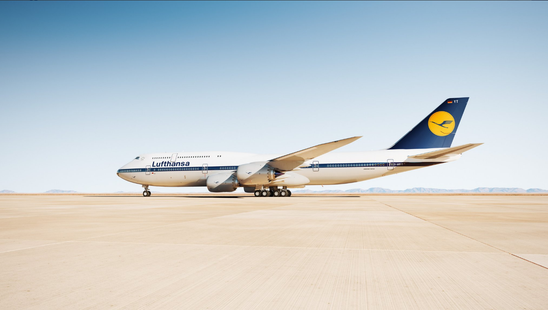 Lufthansa Boeing 747-8 (D-ABYT) i retrolook. (Foto: Lufthansa)