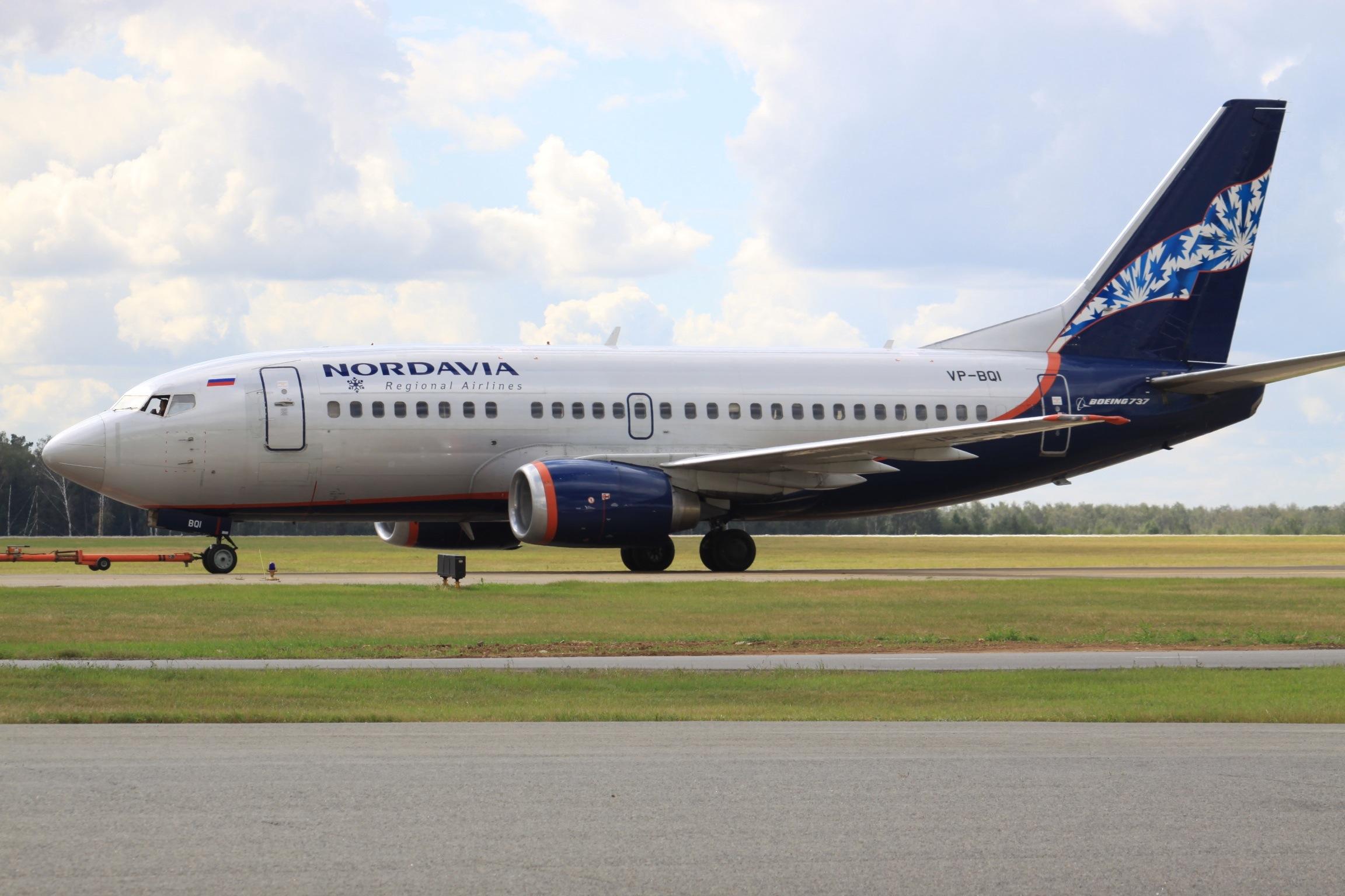 Boeing 737-500 fly fra Nordavia. Foto: Aeroprints.com / Wikimedia Commons.