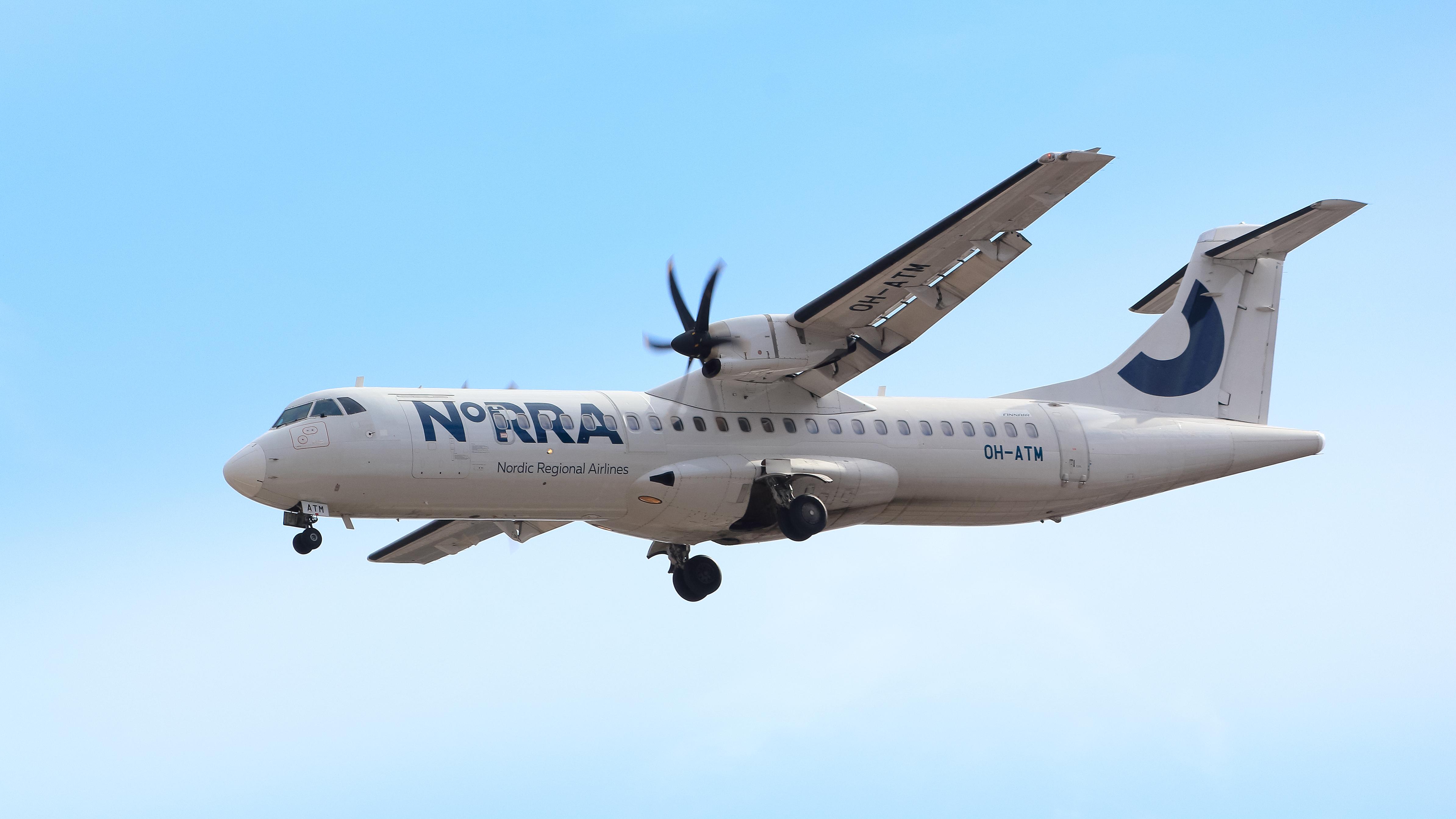 En ATR72 fra det regionale finske flyselskab Norra. Foto: Valentin Hintikka