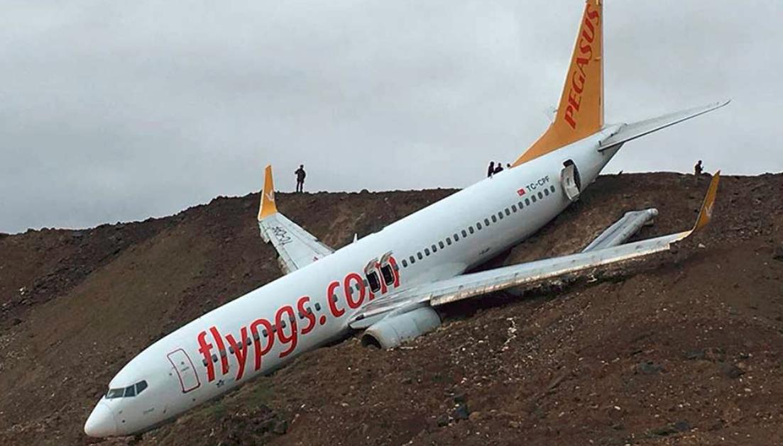 Pegaus Boeing 737-800  forulykket i Trabzon Airport. (Foto: Airlinehaber)
