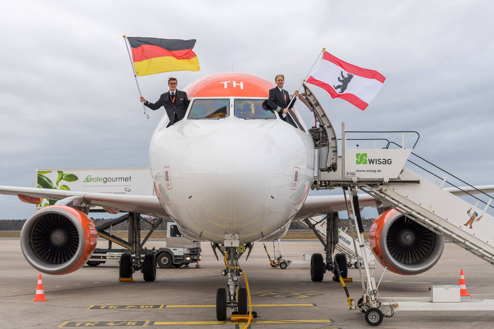 EasyJet-fly i Berlin-Tegel (Foto: FBB)