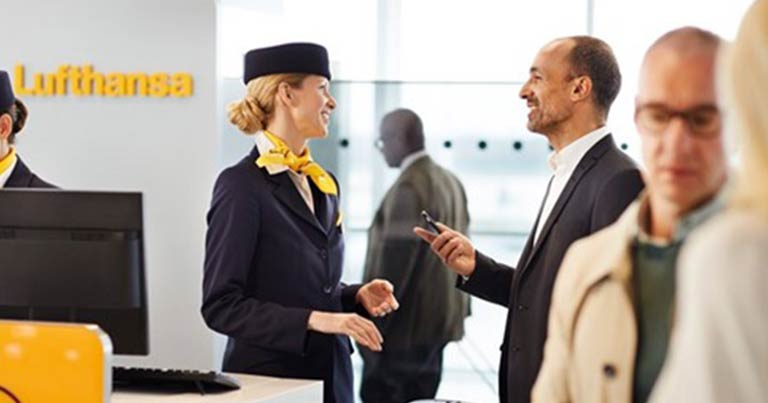 Hurtig adgang for indenrigsrejsende i München. Foto: Lufthansa.