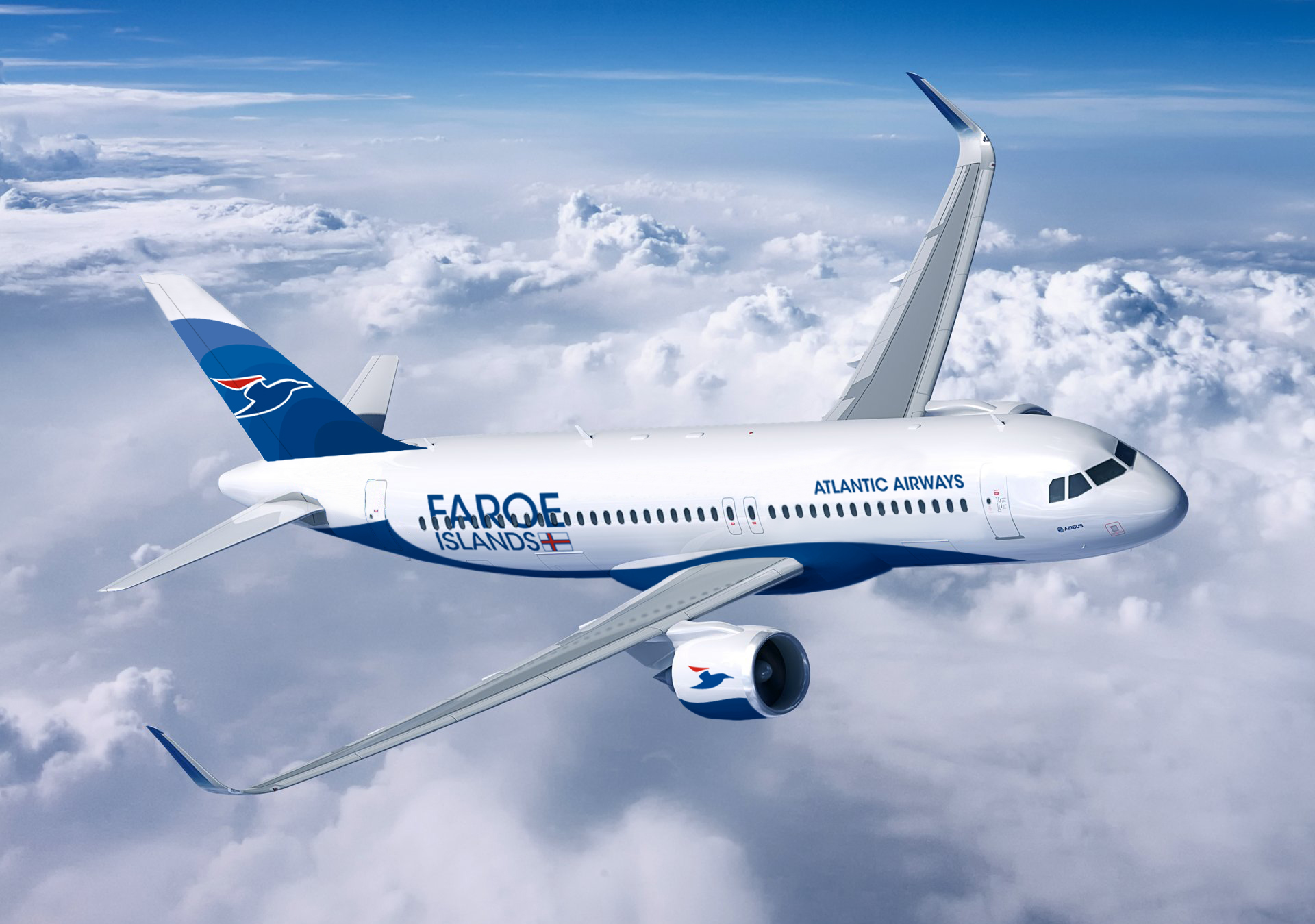 Airbus A320-200neo i Atlantic Airways-bemaling. (Foto: Atlantic Airways)