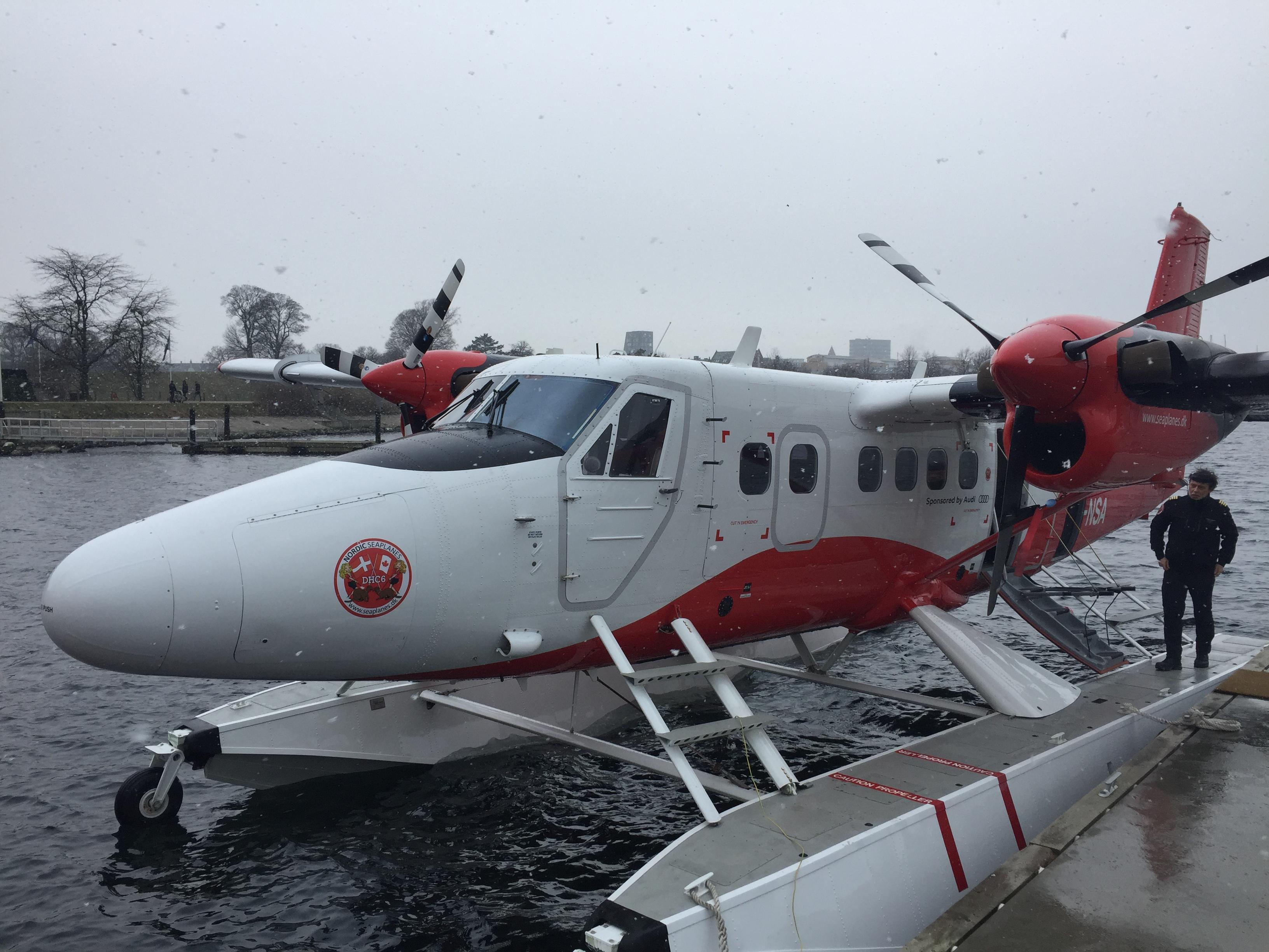 Twin Otter DHC6-300 fra Nordic Seaplanes i Københavns Havn. Foto: Danny Longhi Andreasen