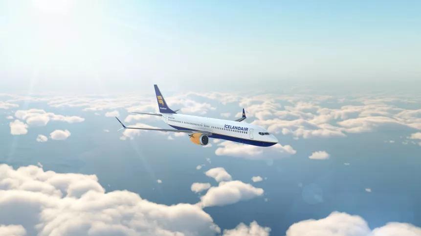 Icelandair Boeing 737 8 MAX. (Foto: Icelandair)