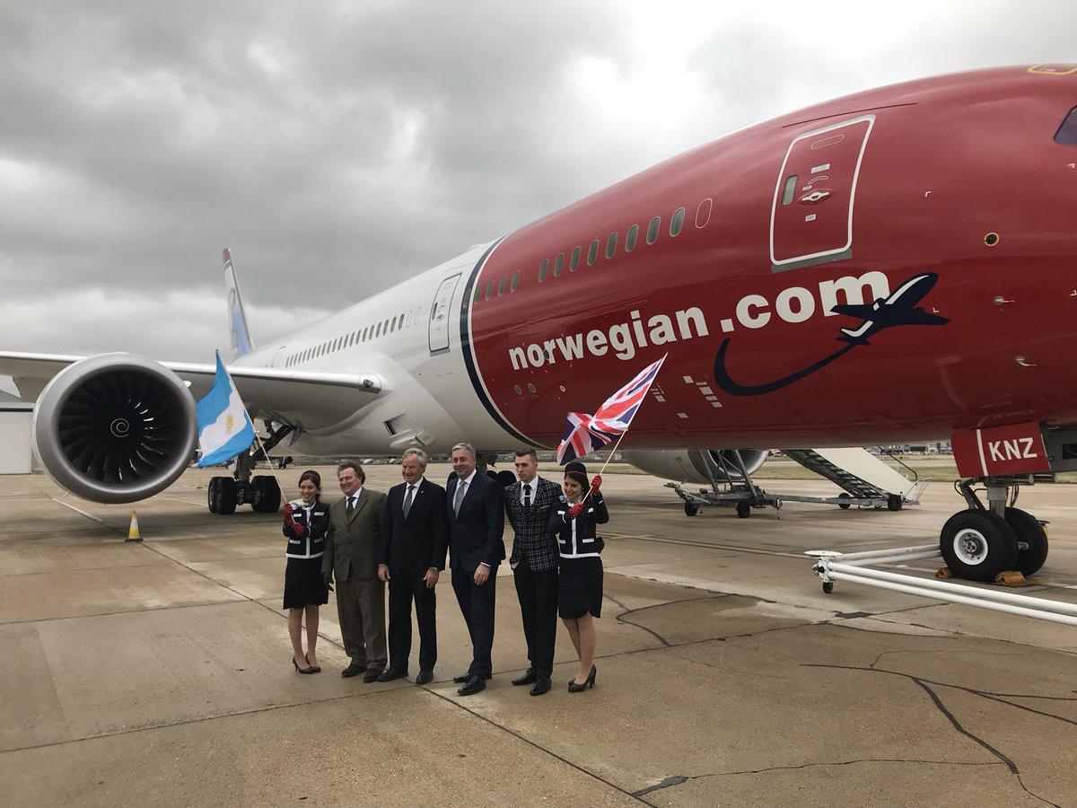 Åbningen af Norwegian-ruten fra London Gatwick til Buenos Aires. (Foto: Norwegian)