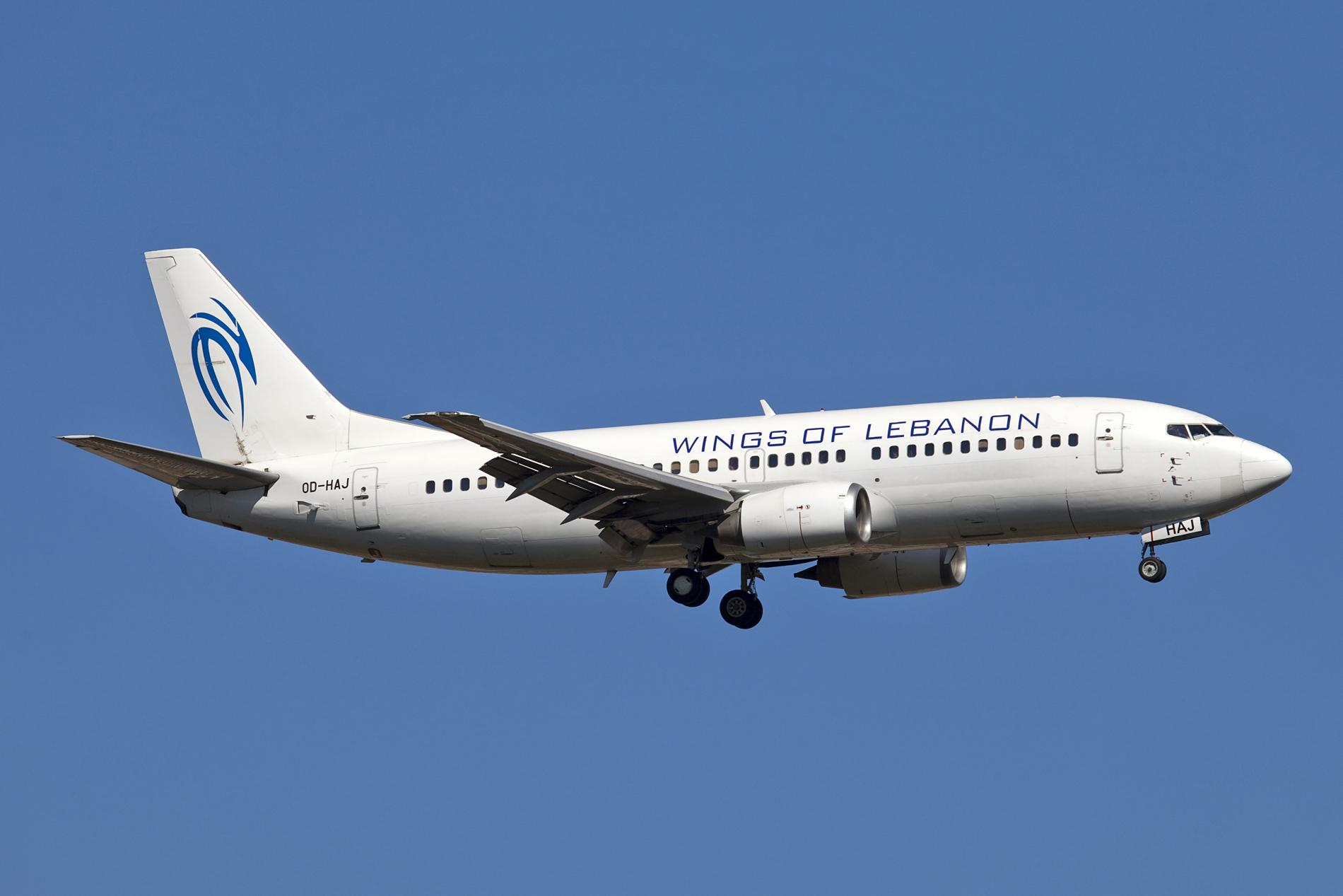 Wings of Lebanon råder over et enkelt Boeing 737-300 fly. Foto: Maarten Visser / Wikimedia Commons.