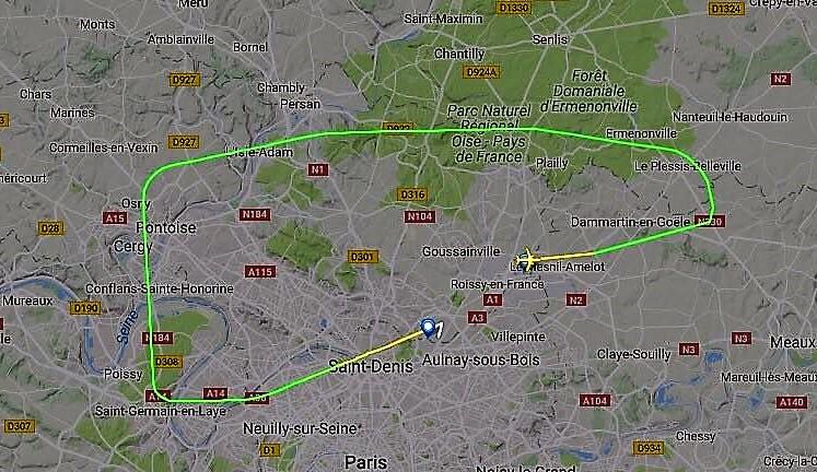 Hov! De glemte noget. Radarfoto:  Aviation24.be
