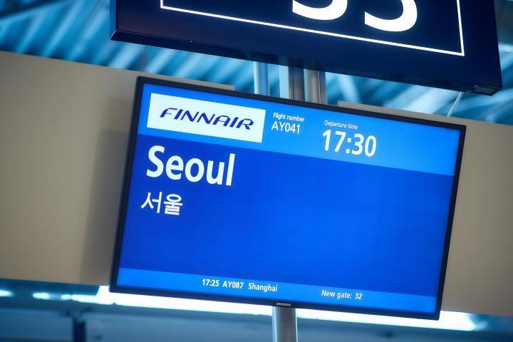 Der har været trængsel på flyene fra Helsinki til Seoul. Foto: Helsinki Airport.