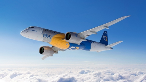 Den nye Embraer 190 E2. Foto: Embraer.