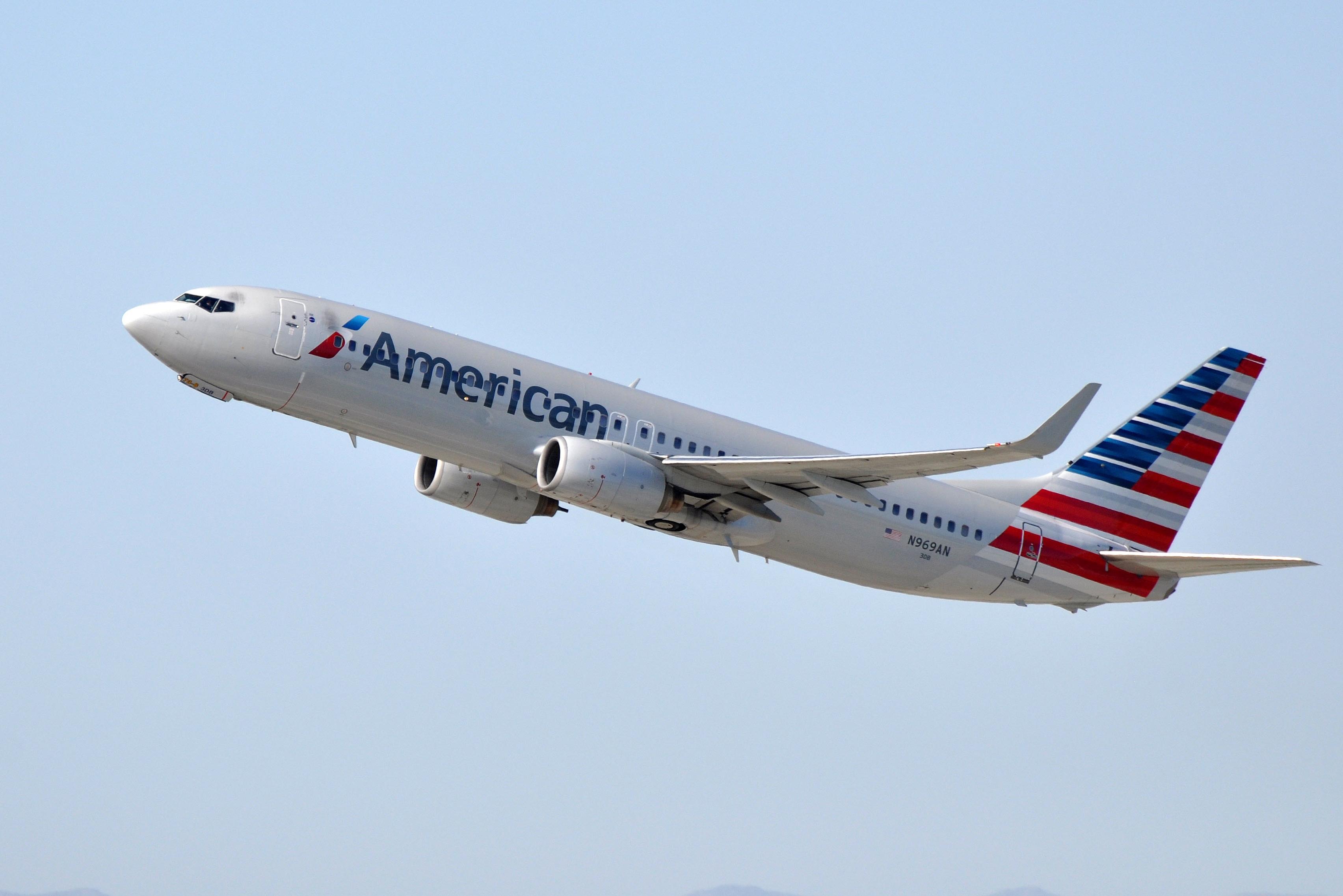 En Boeing 737-800 fra American Airlines. Foto: Eric Salard