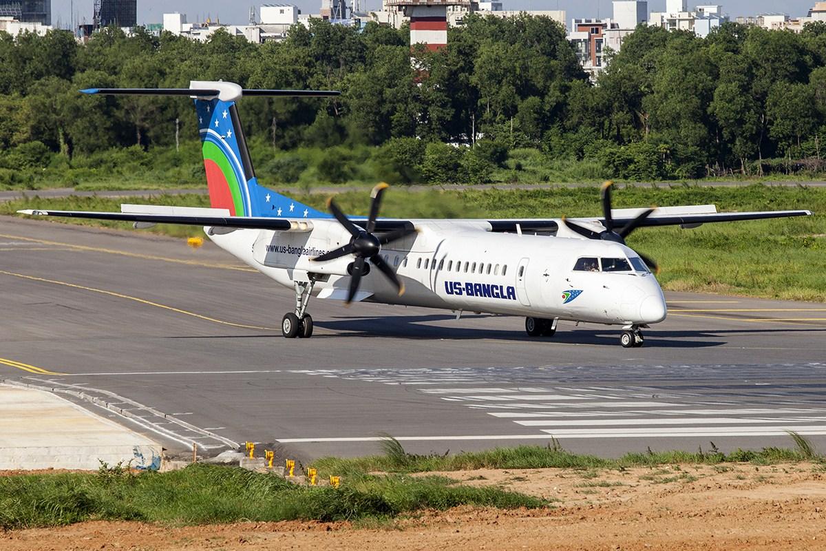 Bombardier Dash8-Q400 fra US-Bangla Airlines. (Foto:  Murad Hashan   Creative Commons 4.0)