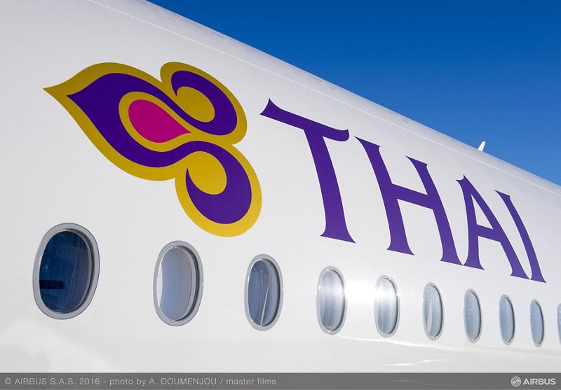 Airbus A350-900 XWB fra Thai Airways. (Foto: A. DOUMENJOU | master films)