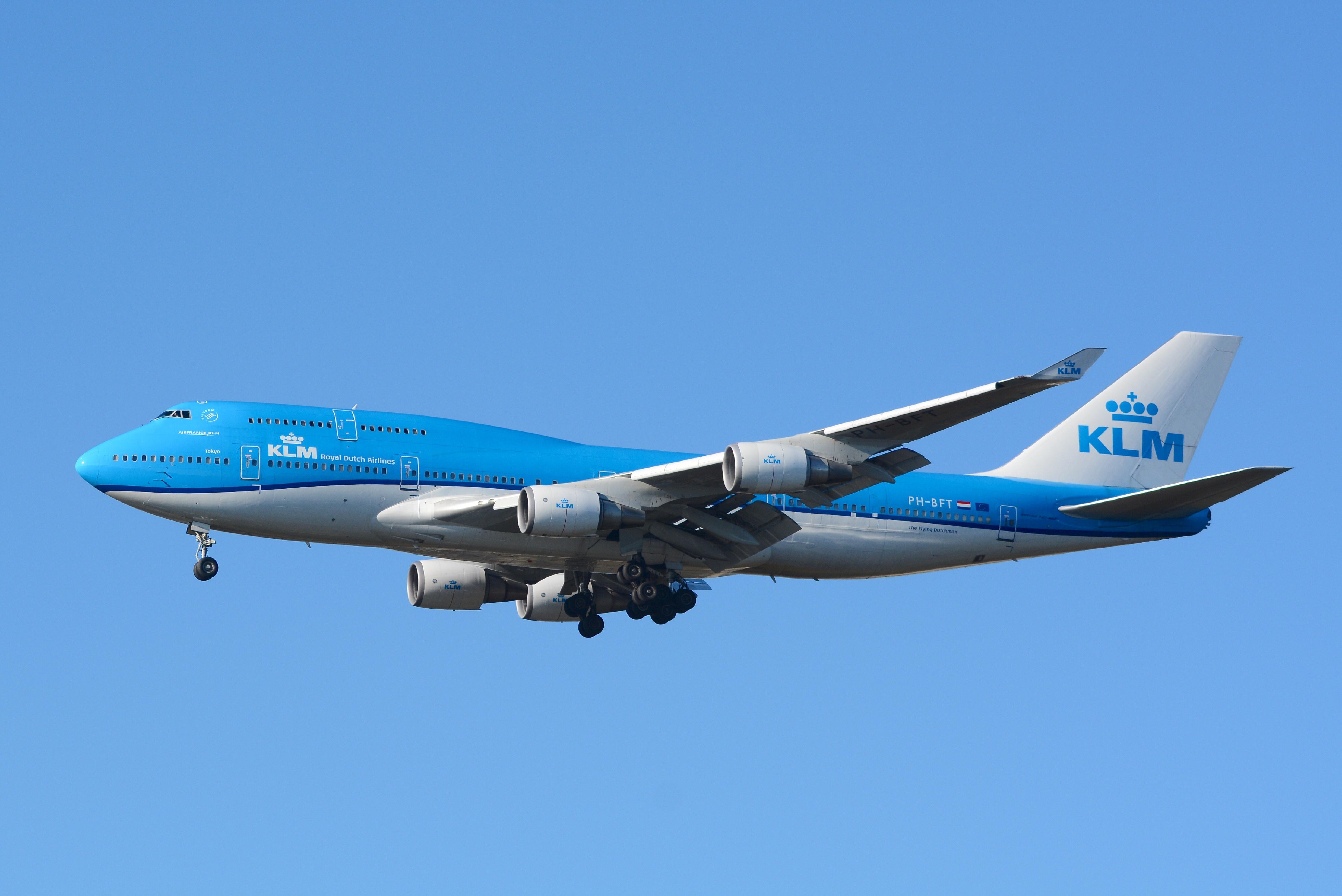 En Boeing 747-400 fra KLM. Foto: Masakatsu Ukon